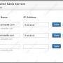 تنظیم Child Name Server در دایرکتی