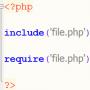 تفاوت تابع include و require در PHP