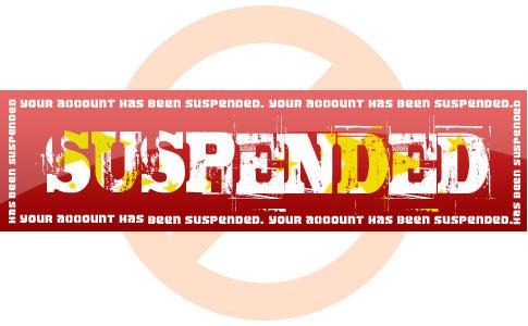 suspend - مسدود